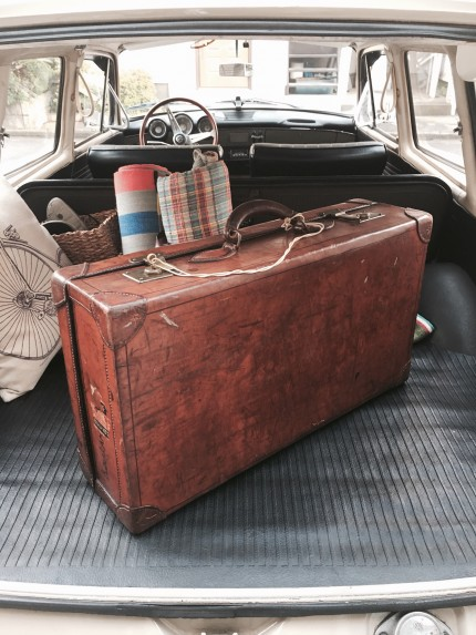 1920 Vintage Leather Trunk